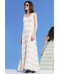 Michael Lauren - Blue Presley Lurex Striped Maxi Dress Final Sale - Lyst