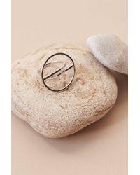 Lavish Alice - Metallic Split Circle Ring In Sterling Silver - Lyst