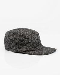 Le Chateau - Black Cotton Blend Marled Cap for Men - Lyst