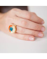 Lele Sadoughi - Multicolor Comet Ring - Lyst