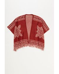 Lemlem - Red Dilla Poncho Wrap - Lyst