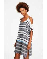 Lemlem | Blue Aziza Open Shoulder Cover-up | Lyst