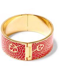 Liberty - Red Hera Enamel Solid Cuff - Lyst