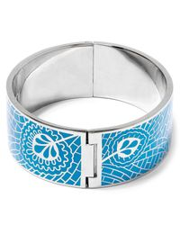 Liberty - Blue Hera Enamel Solid Cuff - Lyst