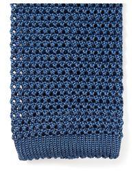 Nick Bronson - Blue Plain Knit Silk Tie for Men - Lyst