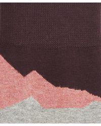 Etiquette - Red Seismic Patterned Socks for Men - Lyst