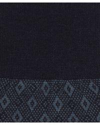 Pantherella - Blue Belford Diamond Birdseye Socks for Men - Lyst