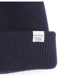 Norse Projects - Blue Navy Lambswool Hat for Men - Lyst