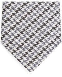 Lanvin - Gray Houndstooth Tie for Men - Lyst