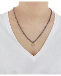 Andrea Fohrman - Metallic Iolite Bead Crescent Moon Necklace - Lyst