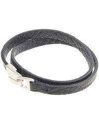 Miansai - Blue Small Hook Leather Bracelet for Men - Lyst