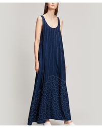 0e3ee48ed57 Elizabeth and James Oasis Embroidered Cotton Maxi Dress in Blue - Lyst