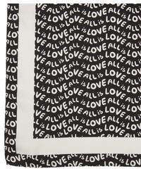 Stella McCartney - White All Is Love Print Scarf - Lyst
