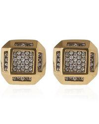 Noor Fares | Metallic Gold Cube Earrings | Lyst