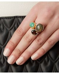 Monica Vinader - Brown Silver Smoky Quartz Candy Ring - Lyst
