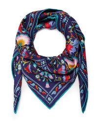 Liberty - Blue Lodden 70x70 Silk Scarf - Lyst