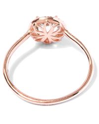 Suzanne Kalan - Rose Gold Green Amethyst Stone And Diamond Ring - Lyst