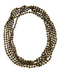 Eskandar - Black Acai Beads Long Necklace - Lyst