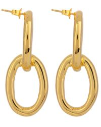 Jennifer Fisher | Gray Small Gold-plated Chain Link Dropstud Earrings | Lyst
