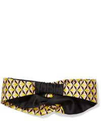 Fendi Yellow Duchesse Knot Headband