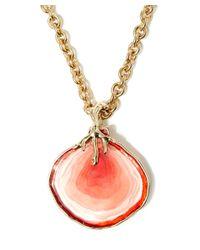 Oscar de la Renta - Metallic Red Agate Resin Pendant - Lyst