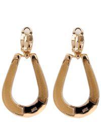 Alexis Bittar - Metallic Black Colour Blocked Clip Earrings - Lyst