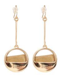 Alexis Bittar - Metallic Beige Asymmetric Drop Earrings - Lyst
