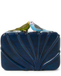 Sarah's Bag | Blue The Dearest Bird Wooden Clutch | Lyst