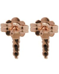 Anna Sheffield - Black Rose Gold Pave Point Stud Earrings - Lyst