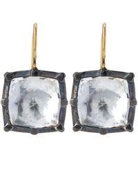 Larkspur & Hawk - Black White Bella Quartz Drop Earrings - Lyst