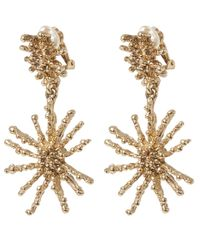 Oscar de la Renta - Metallic Gold-tone Starfish Clip Earrings - Lyst