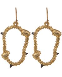 Alexis Bittar | Metallic Gold-tone Irregular Oval Pave Wire Earrings | Lyst