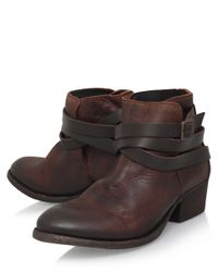 H by Hudson | Brown Tan Leather Horrigan Ankle Boots | Lyst