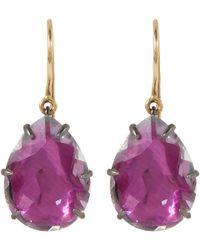 Larkspur & Hawk | Purple Magenta Caterina Quartz Drop Earrings | Lyst