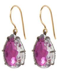 Larkspur & Hawk - Purple Magenta Caterina Quartz Drop Earrings - Lyst