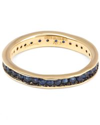 Satomi Kawakita - Metallic Gold Absolute Blue Sapphire Band - Lyst