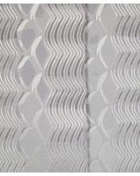 Mary Katrantzou - Gray Metallic Silver Wave Jacquard Trinket Coat - Lyst