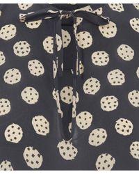 Rachel Comey - Black Bronson Tie Neck Blouse - Lyst
