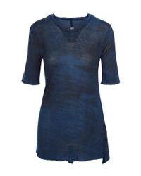 Raquel Allegra - Blue Basic Jersey Tie Dye Tee - Lyst