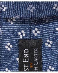 Simon Carter   Blue Ditsy Flower Patterned Tie for Men   Lyst