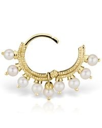 Maria Tash - Metallic Small Gold Full Pearl Coronet Eternity - Lyst