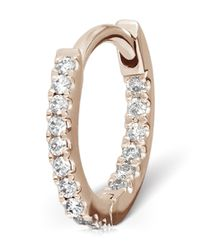 Maria Tash - Pink Medium Rose Gold Diamond Eternity Ring - Lyst