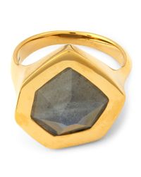 Monica Vinader - Metallic Gold-plated Petra Labradorite Cocktail Ring - Lyst