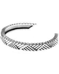 Philippe Audibert   Metallic Diagonal Patterned Ben Bangle   Lyst