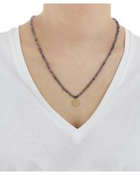 Andrea Fohrman - Metallic Iolite Bead Crescent Moon Necklace - Lyst