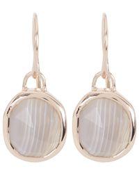 Monica Vinader - Metallic Rose Gold-plated Grey Agate Siren Wire Earrings - Lyst
