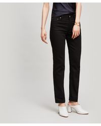 be82bdf154c93 Acne Studios South Straight Fit Jeans in Black - Lyst