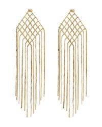 Rosantica - Metallic Aquilone Woven Earrings - Lyst