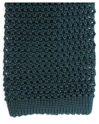 Nick Bronson - Green Knitted Silk Tie for Men - Lyst