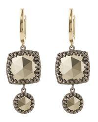 Larkspur & Hawk | Metallic Ava Cushion Drop Earrings | Lyst